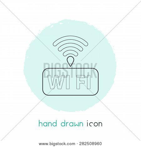 Wifi Icon Line Element.  Illustration Of Wifi Icon Line Isolated On Clean Background For Your Web Mo