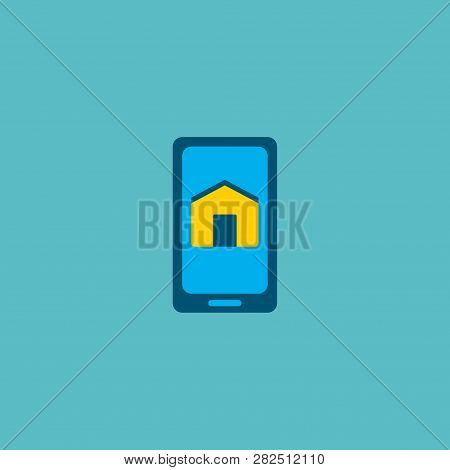Smart App Icon Flat Element.  Illustration Of Smart App Icon Flat Isolated On Clean Background For Y