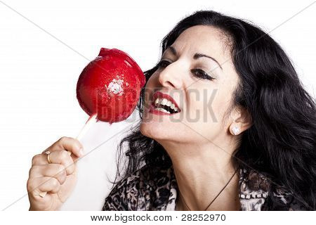 Woman With Candy Apple