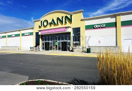 Naperville, Illinois / United States - October 5, 2017: The Jo-ann Store Sells Fabrics, Crafts, And