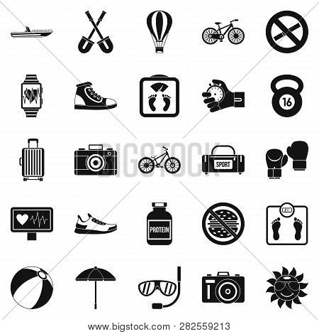 Nature Study Icons Set. Simple Set Of 25 Nature Study Icons For Web Isolated On White Background