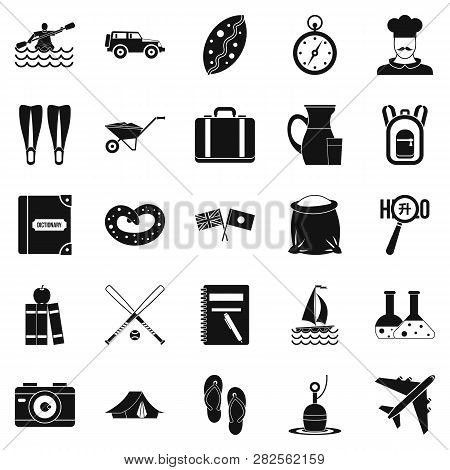 Water Trip Icons Set. Simple Set Of 25 Water Trip Icons For Web Isolated On White Background