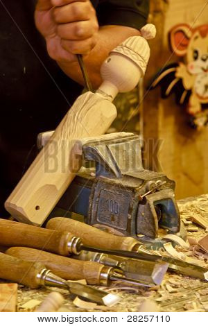 ROME - JULY 8: Tourists visit the  studio of  woodcarver named Geppetto on July 8 2011, Rome. The Adventures of Pinocchio, by Carlo Collodi, are one of the most famous children's novell in the world.