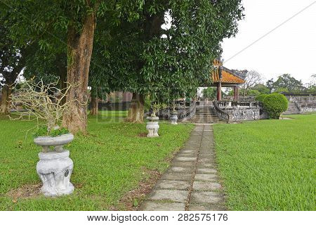 A Pagoda Near Site Of Former Khon Thai Residence In The Grounds Of The Imperial City, Hue, Vietnam