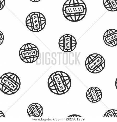 Go To Web Seamless Pattern Background Icon. Business Flat Vector Illustration. World Network Sign Sy