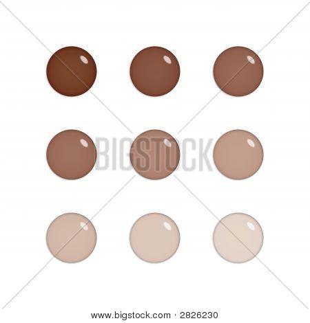 Nine Glass Orbs In Brown