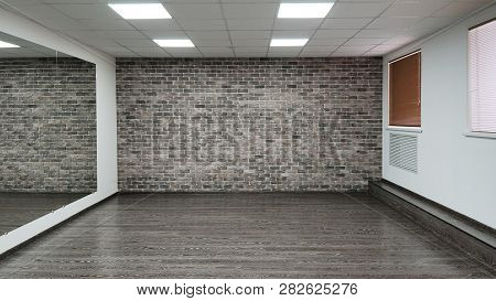 An Empty Modern Hall For Dance Classes Or Fitness Studio