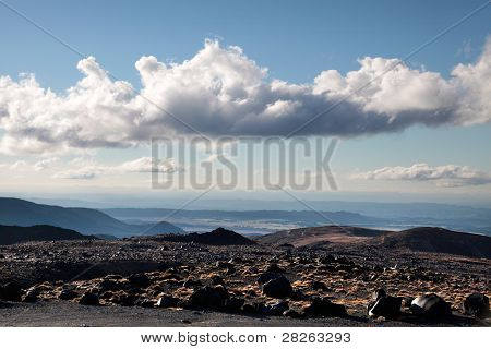 Meager Landscape At Mount Ruapehu