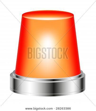 Orange flashing siren