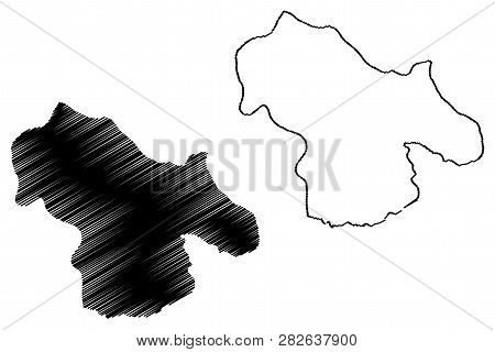 Kohgiluyeh And Boyer-ahmad Province (provinces Of Iran, Islamic Republic Of Iran, Persia) Map Vector