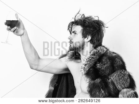 Rich Athlete Enjoy His Life. Fashion And Pathos. Richness And Luxury Concept. Sexy Sleepy Rich Macho