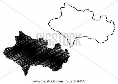 Lorestan Province (provinces Of Iran, Islamic Republic Of Iran, Persia) Map Vector Illustration, Scr