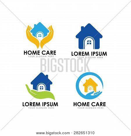 Home Care Logo Design Template. Home Logo Design Template