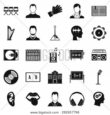 Action Icons Set. Simple Set Of 25 Action Icons For Web Isolated On White Background
