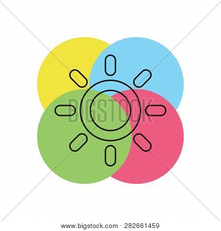 Weather Forecast Icon, Vector Seasons Sunny Weather, Sunny Weather. Thin Line Pictogram - Outline St
