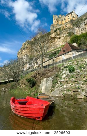 Beynac With The Castle On The Cliff