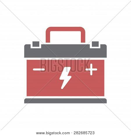 Car Battery Icon On Vector Photo Free Trial Bigstock