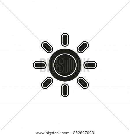 Weather Forecast Icon, Vector Seasons Sunny Weather, Sunny Weather. Flat Pictogram - Simple Icon