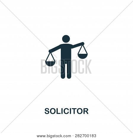 Solicitor Icon. Premium Style Design From Business Management Icon Collection. Pixel Perfect Solicit