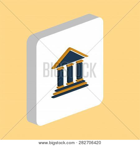 Bank, Court Simple Vector Icon. Illustration Symbol Design Template For Web Mobile Ui Element. Perfe