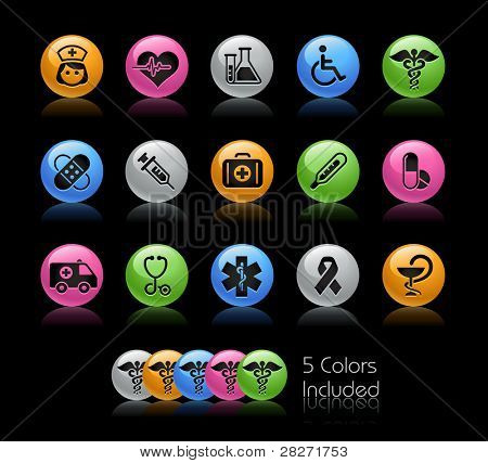 Medical Icon set  / The file Includes 5 color versions in different layers.