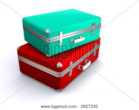 Two Old Suitcases