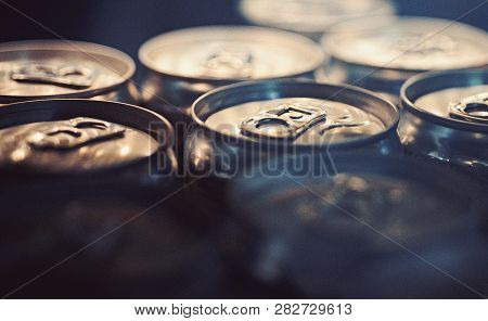 Light Refreshments. Aluminum Beverage Cans. Drink Cans. Pull Tabs On Cans Tops. Metal Containers Des