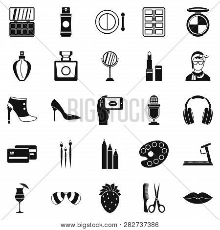 Hangout Icons Set. Simple Set Of 25 Hangout Icons For Web Isolated On White Background