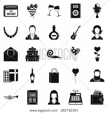 Discotheque Icons Set. Simple Set Of 25 Discotheque Icons For Web Isolated On White Background