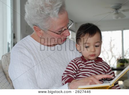 Grandma Reads To Sam