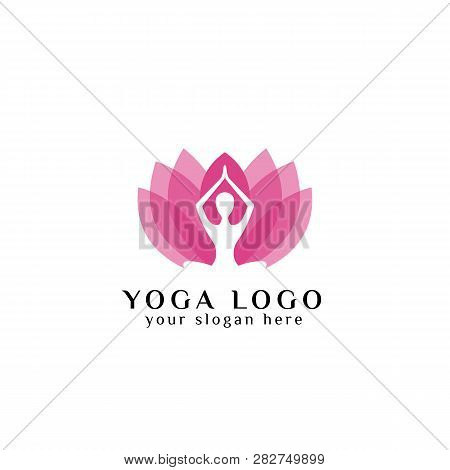Yoga Logo Design Vector Photo Free Trial Bigstock
