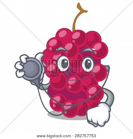 Doctor Mulberry Fruit On A Cartoon Table