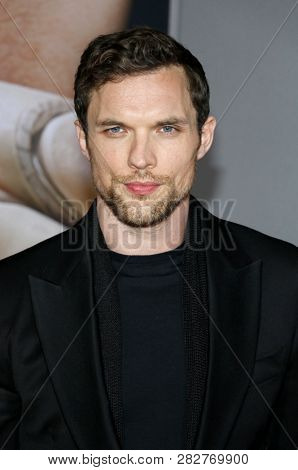 Ed Skrein at the Los Angeles premiere of 'Alita: Battle Angel' held at the Regency Village Theatre in Westwood, USA on February 5, 2019.
