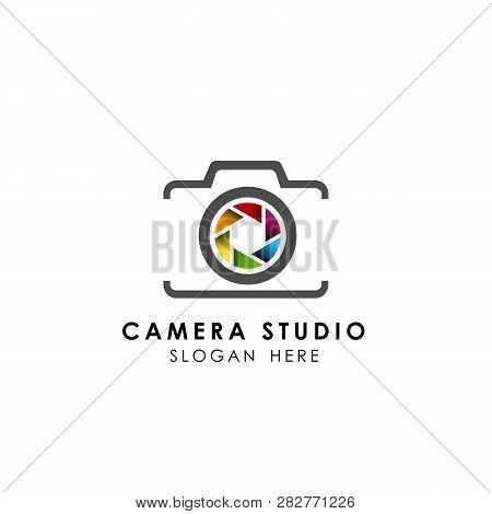 Colorful Camera Logo Template Vector Icon. Camera Logo Design