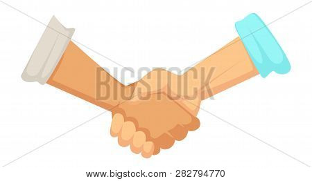 Deal Sign Handshake Agreement Male Hands With Sleeve