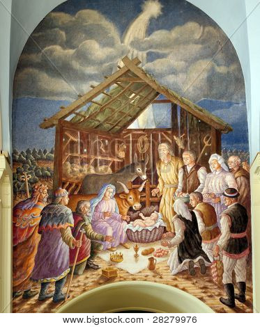 Nativity scene, creche, or crib, is a depiction of the birth of Jesus