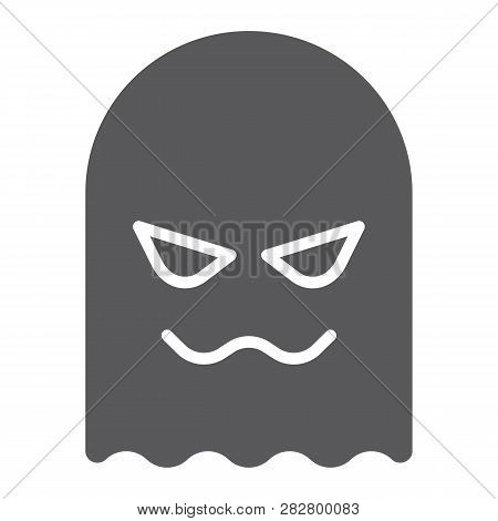 Ghost Glyph Icon, Horror And Character, Horror Sign, Vector Graphics, A Solid Pattern On A White Bac