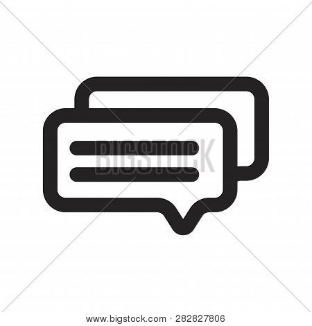 Messages Vector Icon On White Background. Messages Icon In Modern Design Style. Messages Vector Icon