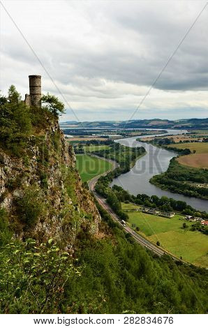 A View From The Top Of Kinnoull Hill In Perth Over The River Tay