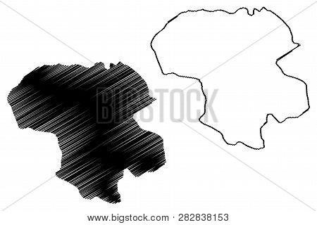 Zanjan Province (provinces Of Iran, Islamic Republic Of Iran, Persia) Map Vector Illustration, Scrib
