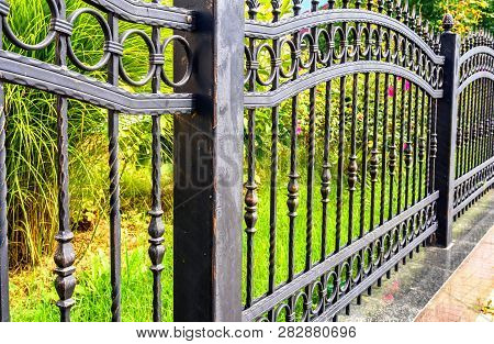 Black Wrought Iron Fence, Black Metal Fence