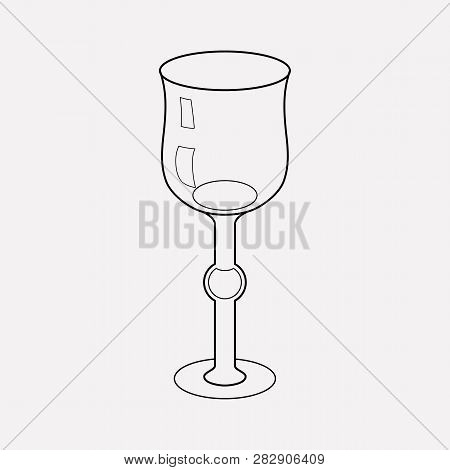 Stemware Icon Line Element.  Illustration Of Stemware Icon Line Isolated On Clean Background For You