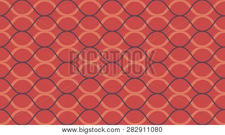 Seamless Vintage Pattern. Classic Retro Fashion Stripes Texture. Color Mosaic Shapes Background. Sea