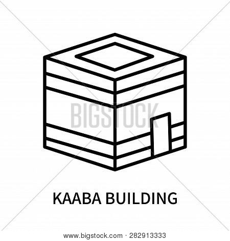 Kaaba Building Icon Isolated On White Background. Kaaba Building Icon Simple Sign. Kaaba Building Ic