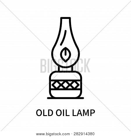Old Oil Lamp Icon Isolated On White Background. Old Oil Lamp Icon Simple Sign. Old Oil Lamp Icon Tre