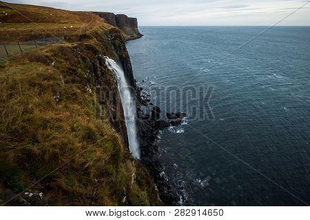 Klit Rock And Mealt Falls, Isle Of Skyle. Scotland