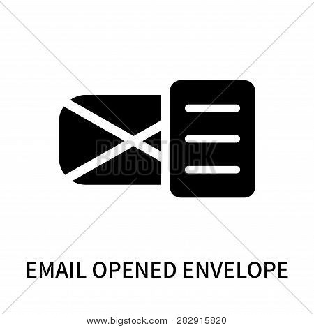Email Opened Envelope Icon Isolated On White Background. Email Opened Envelope Icon Simple Sign. Ema