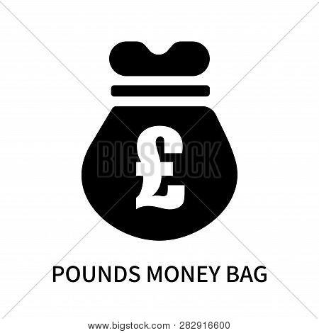 Pounds Money Bag Icon Isolated On White Background. Pounds Money Bag Icon Simple Sign. Pounds Money