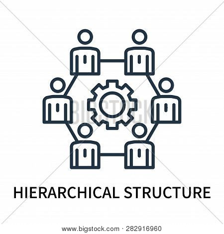 Hierarchical Structure Icon Isolated On White Background. Hierarchical Structure Icon Simple Sign. H