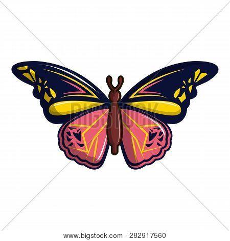 Wandered Butterfly Icon. Cartoon Illustration Of Wandered Butterfly Icon For Web Design